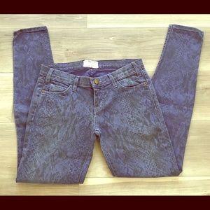 Current/Elliott snakeskin jeans size 26